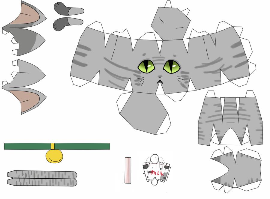Бумажные кошки своими руками 20
