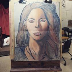 Portrait of a model by BlackStar2661