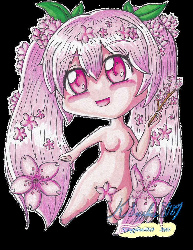 Sakura Miku the Eve of Eden by KSapphire8989