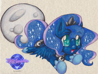 Chibi Princess Luna by KSapphire8989