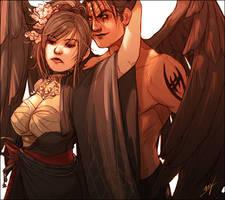 Asuka and Jin Kazama by LMJWorks