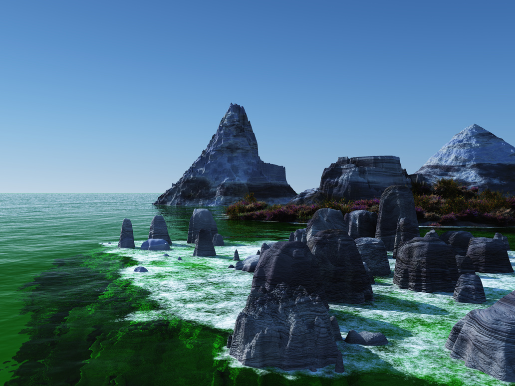 Emerald Waters Planet by Stargem