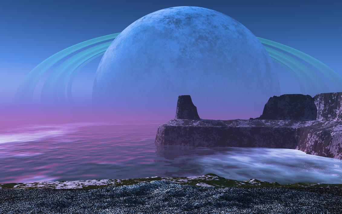 Alien Landscape 5 by Stargem