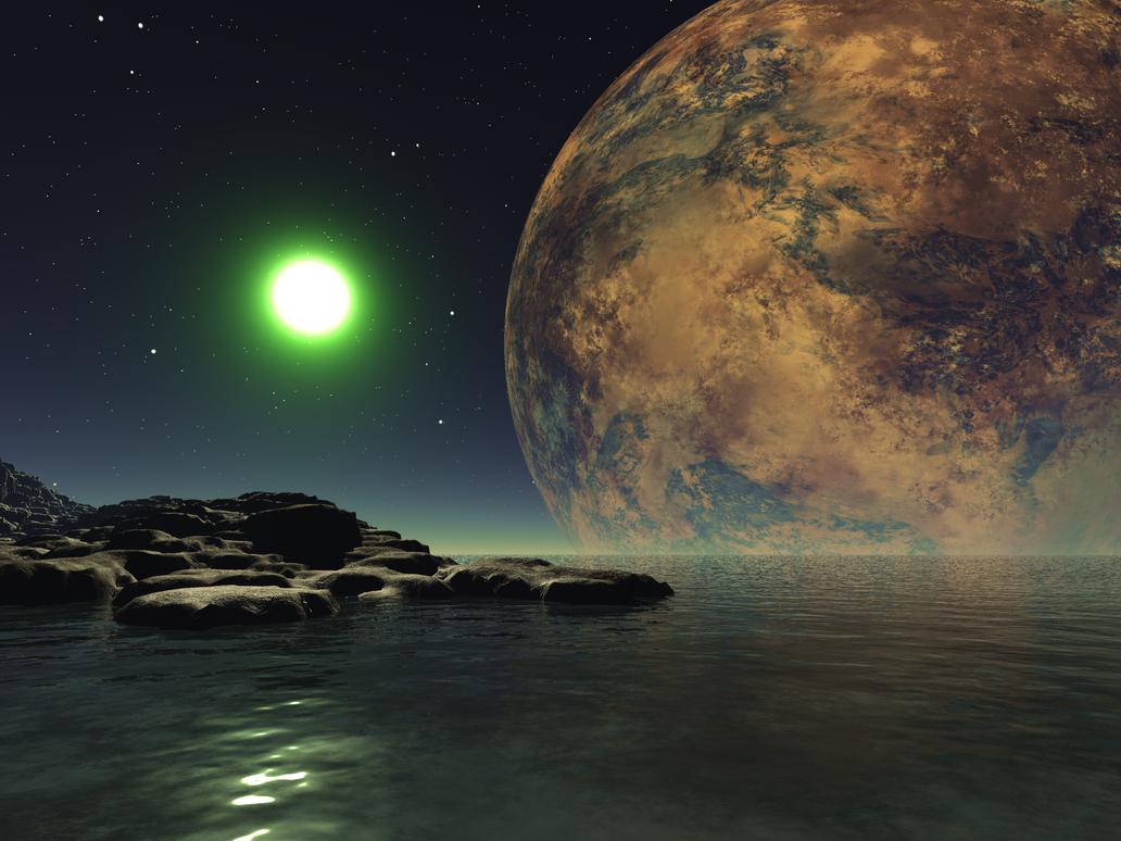 Alien Landscape 11 by Stargem