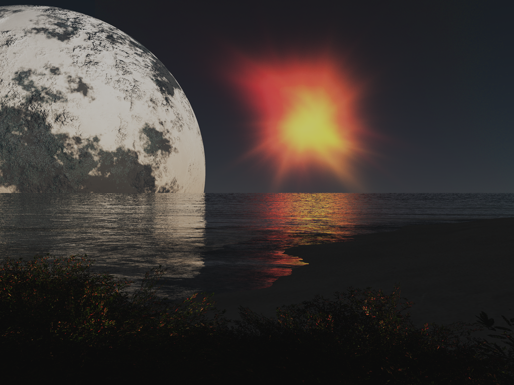 Alien Landscape 12 by Stargem