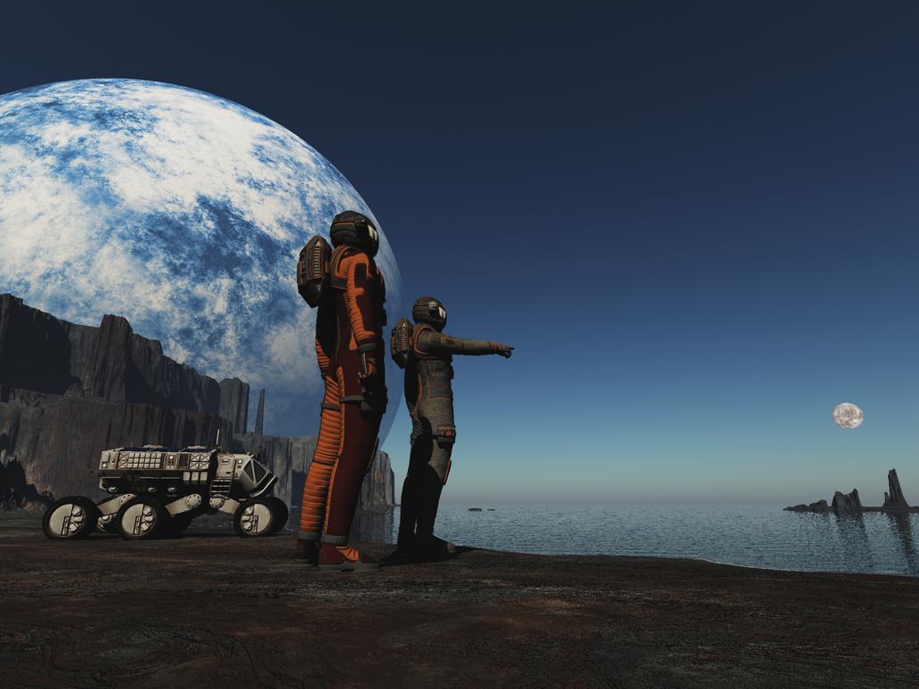 Exploring an Alien Planet 4 by Stargem