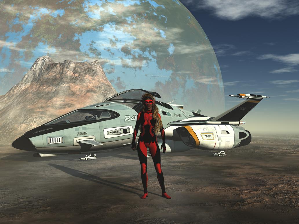 Star Shuttle Pilot Anne by Stargem
