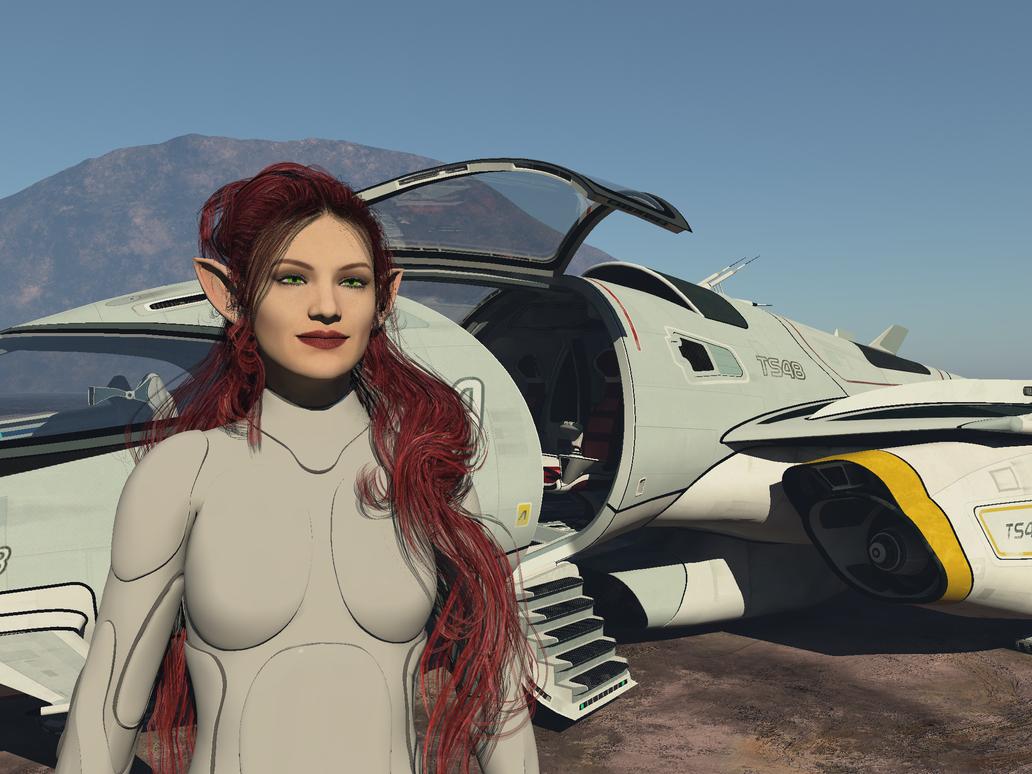 Star Shuttle Pilot Adora by Stargem
