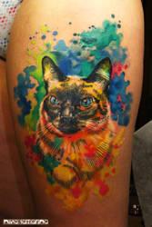 watercolor cat2 by NikaSamarina