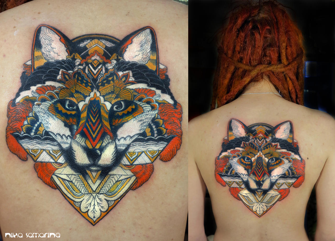fox tattoo by NikaSamarina