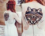 fox tattoo. my work