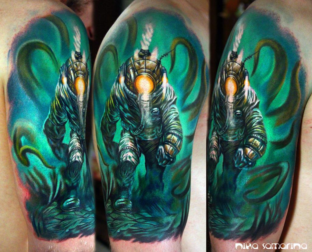 diver tattoo by NikaSamarina