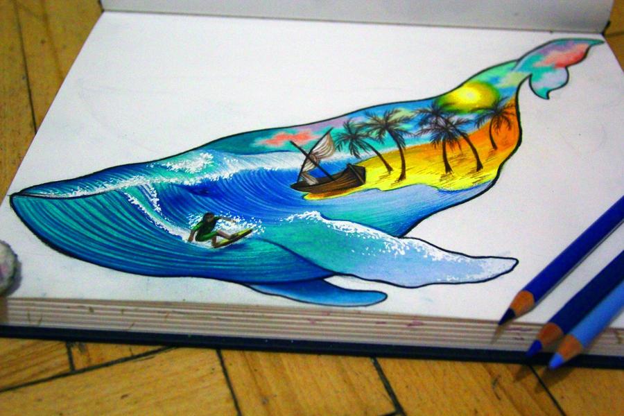 whale by NikaSamarina