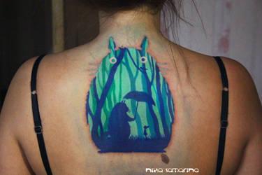 totoro tattoo by NikaSamarina