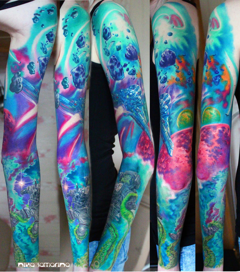 space tattoo sleeve by NikaSamarina on DeviantArt
