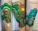 cartoon world tattoo