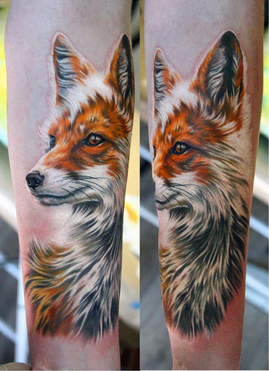 fox tattoo by NikaSamarina