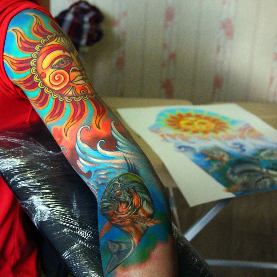 sleeve in progress by NikaSamarina