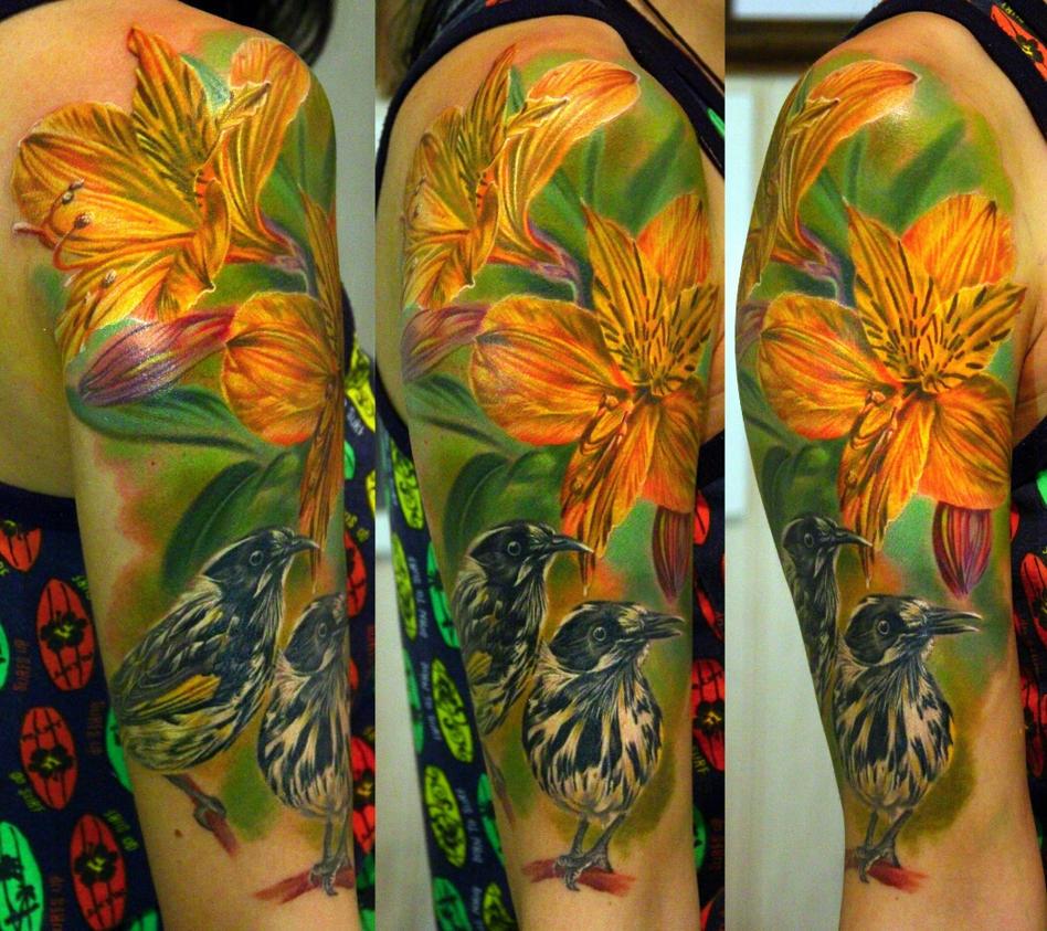 birds tattoo by NikaSamarina