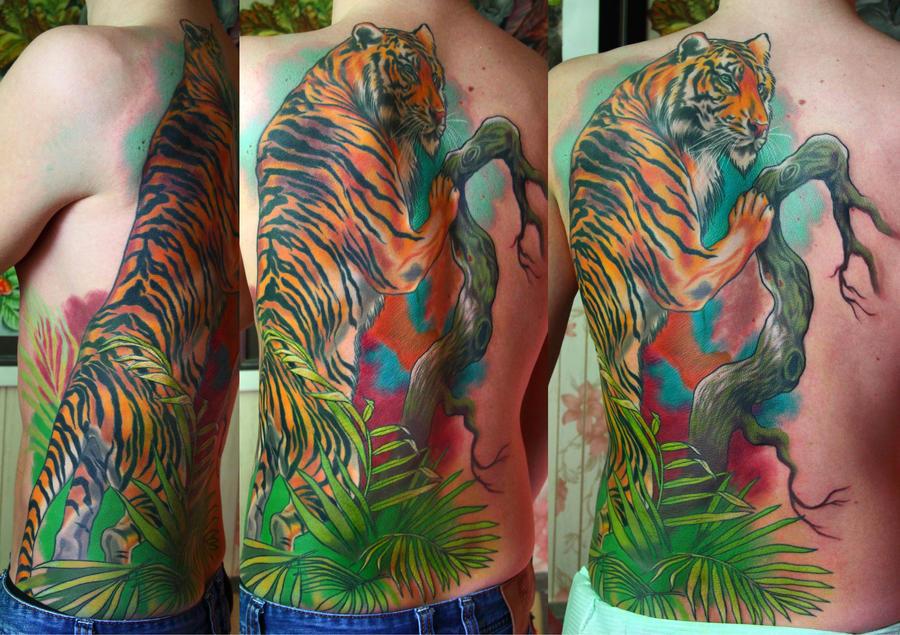 tiger tattoo by NikaSamarina