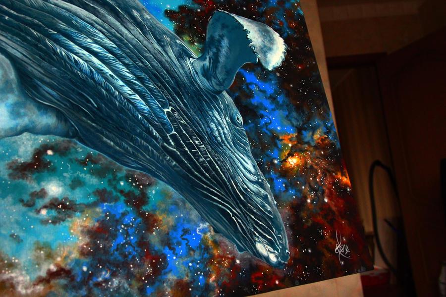 whale.  details by NikaSamarina