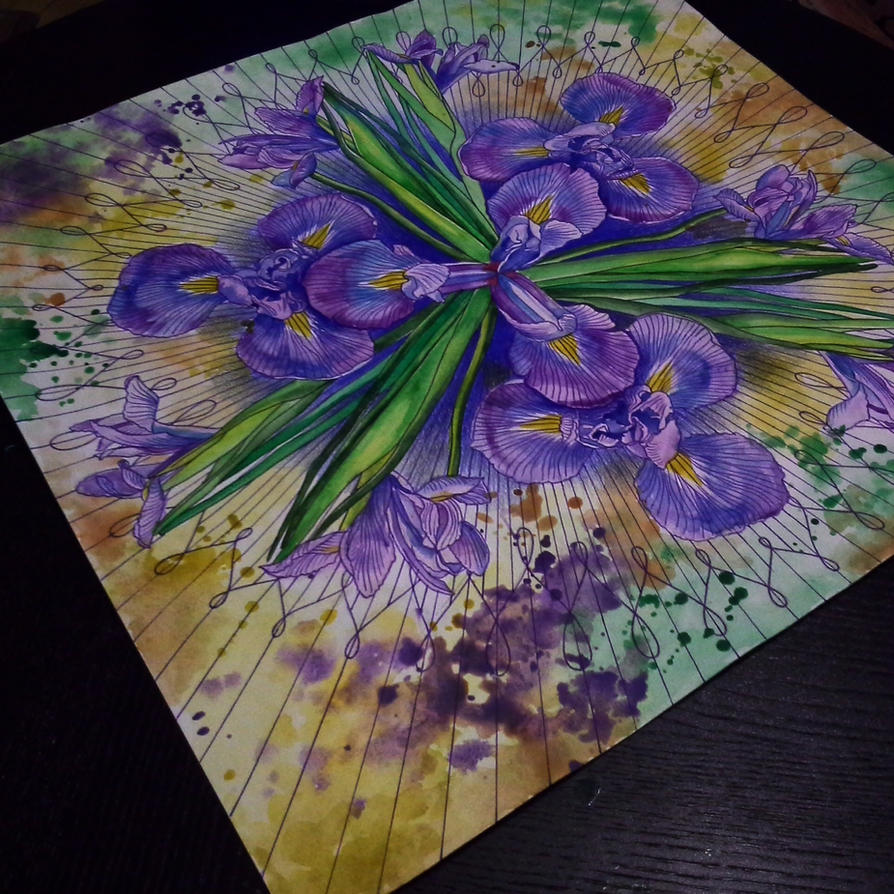 iris ornament by NikaSamarina