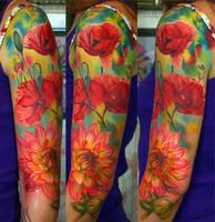 flowers tattoo by NikaSamarina