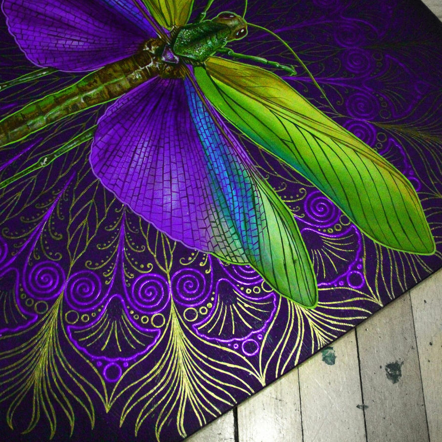 ornamental locust details by NikaSamarina