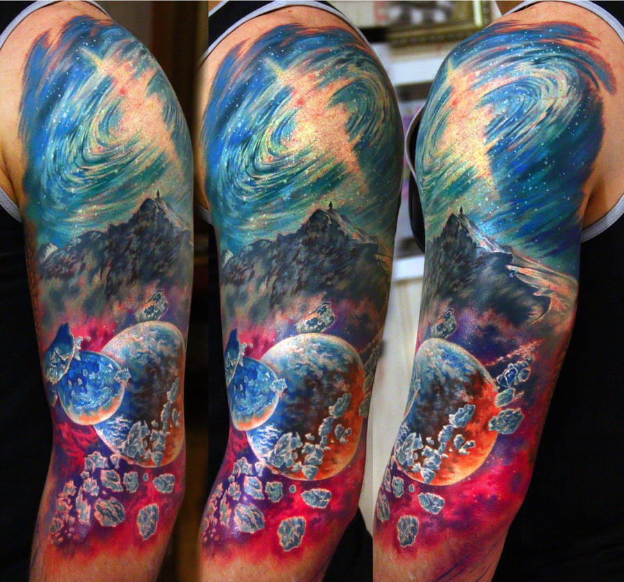 space tattoo by NikaSamarina