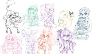 Yu-gi-oh Sketch Dump