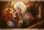 Geralt and Triss in Kaer Morhen