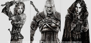 TWH - Ciri Geralt Yennefer