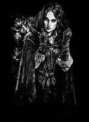 Yennefer (t-shirt print) by JustAnoR