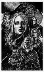 The sword of destiny characters collage by JustAnoR