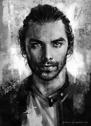 Aidan Turner Portrait by JustAnoR