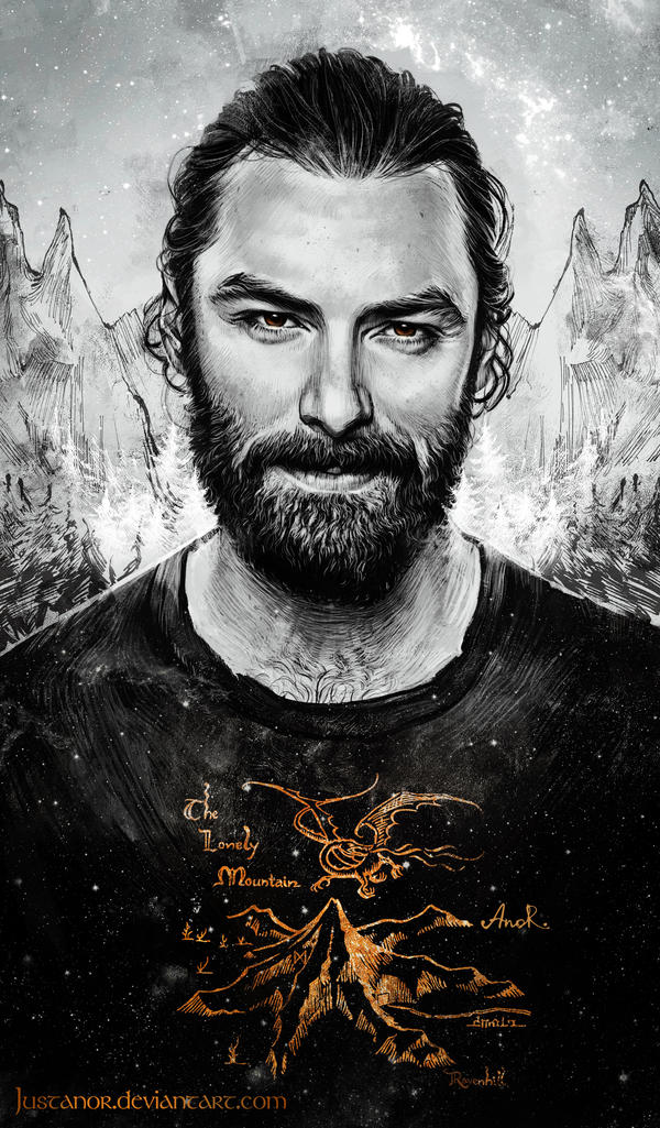 Aidan Turner Portrait 2 by JustAnoR