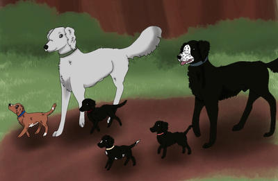 A Family Outing by TwistedValleyKennels