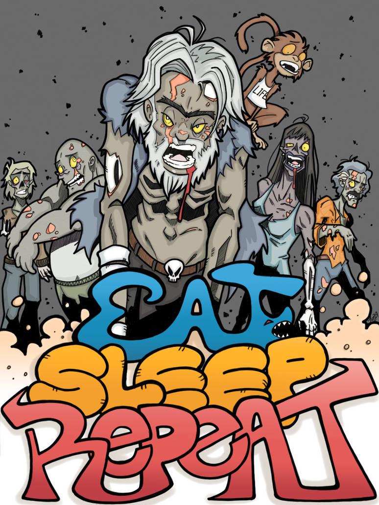 Sleep Eat Repeat by wotnip