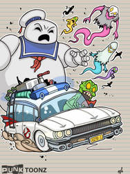 SLIMER THE REAL GHOSTBUSTERS by wotnip