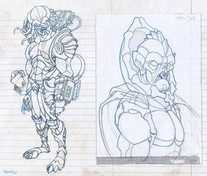Sketches (April 2015) by ubegovic