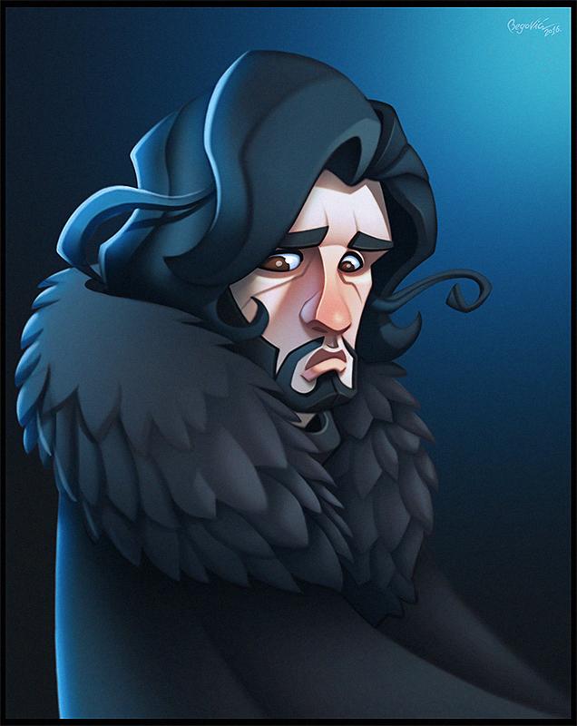 Game of Thrones: Jon Snow by ubegovic