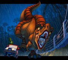 Jurassic Park: Must Go Faster! by ubegovic