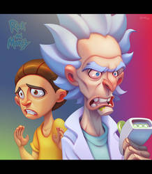 Rick and Morty by ubegovic