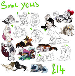 smol ychs 5left buy all 5 for 60gbp by sterling-raven