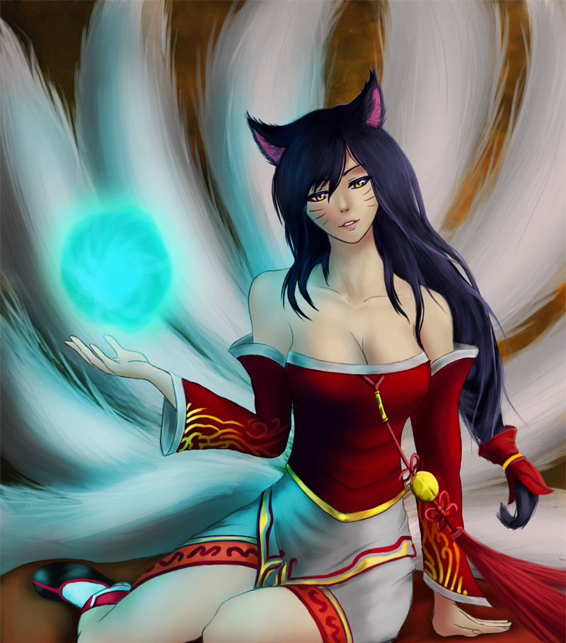 Ahri by ArchillDraws