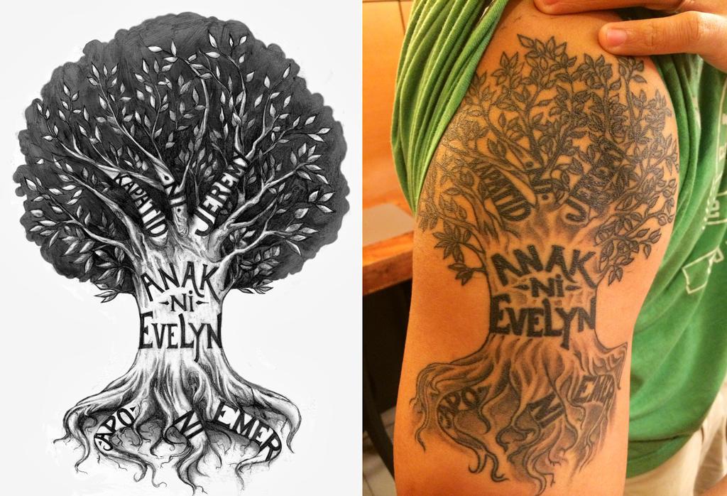 family tree tattoo design by crisluspotattoos on deviantart. Black Bedroom Furniture Sets. Home Design Ideas