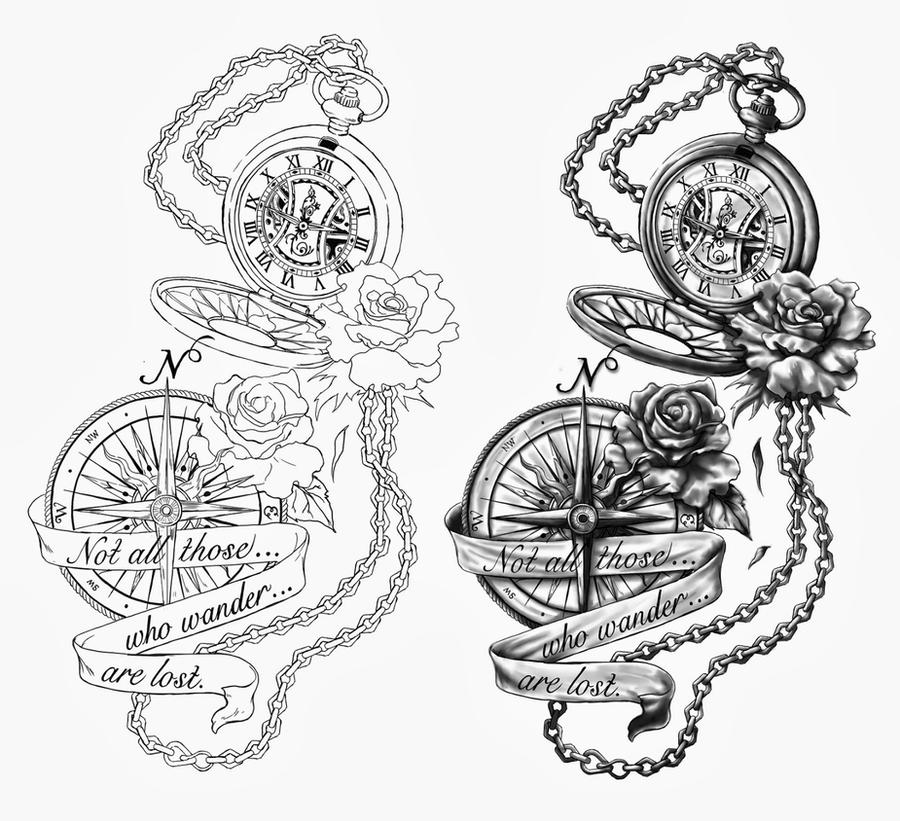 Broken Pocket Watch Tattoo Design The Pocket Watch and The