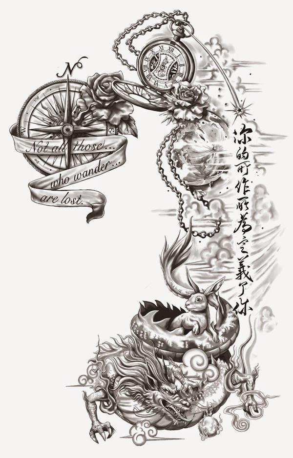 Back Tattoo Design By Crisluspotattoos On Deviantart