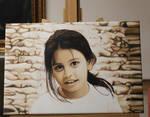 Maledives Child Oil Painting