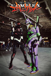 Evangelion 01 and 03 by Akiba91